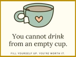 You cannot drink from an empty cup